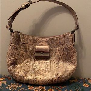 A lovely Coach snakeskin bag